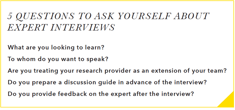 Guidepoint 5 Questions to Ask Yourself About Expert Inverviews