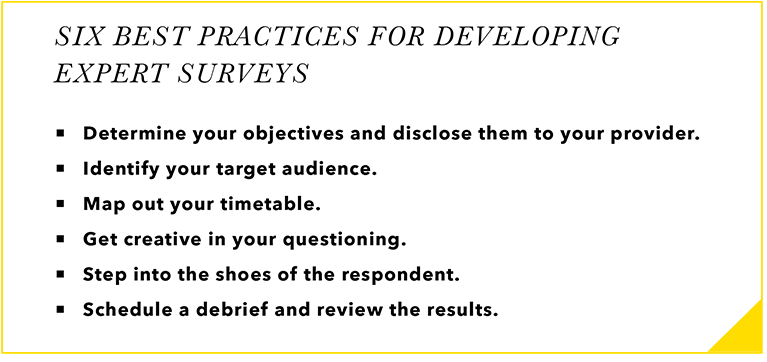Best Practices for Developing Expert Surveys